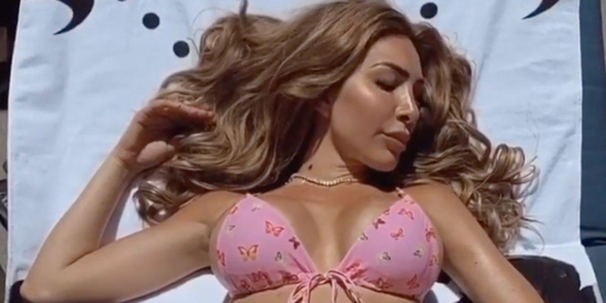 Screenshot of Farrah Abraham from TikTok video