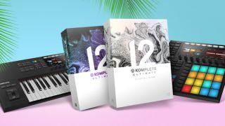 MIDI keyboard, music software and Maschine