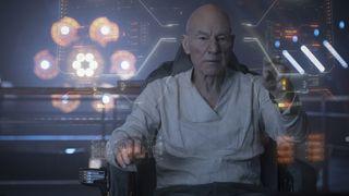 "Sir Patrick Stewart as Jean-Luc Picard in ""Star Trek: Picard."""