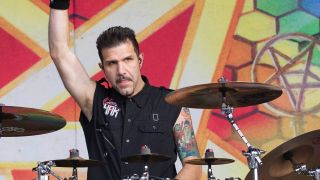 Charlie Benante at this year's Aftershock Festival