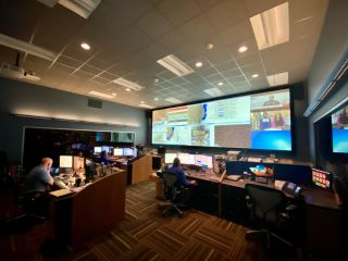 tvONE's new CORIOmaster2 has been installed for the first time in the USA, in the 911 Emergency Operations Center in Peoria, IL.