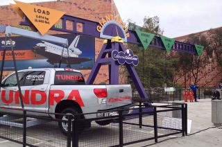 Space Shuttle Endeavour S Toyota Tow Truck Gives California