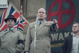 Fascist leader Colin Jordan, played by Rory Kinnear in 'Ridley Road'.