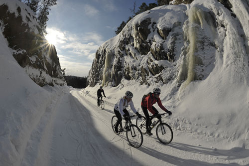 Norway ice riding 2011, snow, cycling