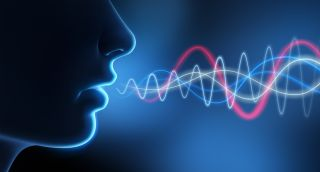 An artist's image representing the soundwaves in human speech.