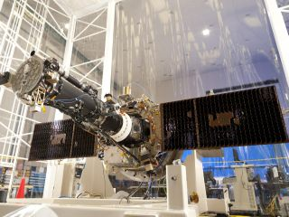 Integrated IRIS spacecraft in Clean Room