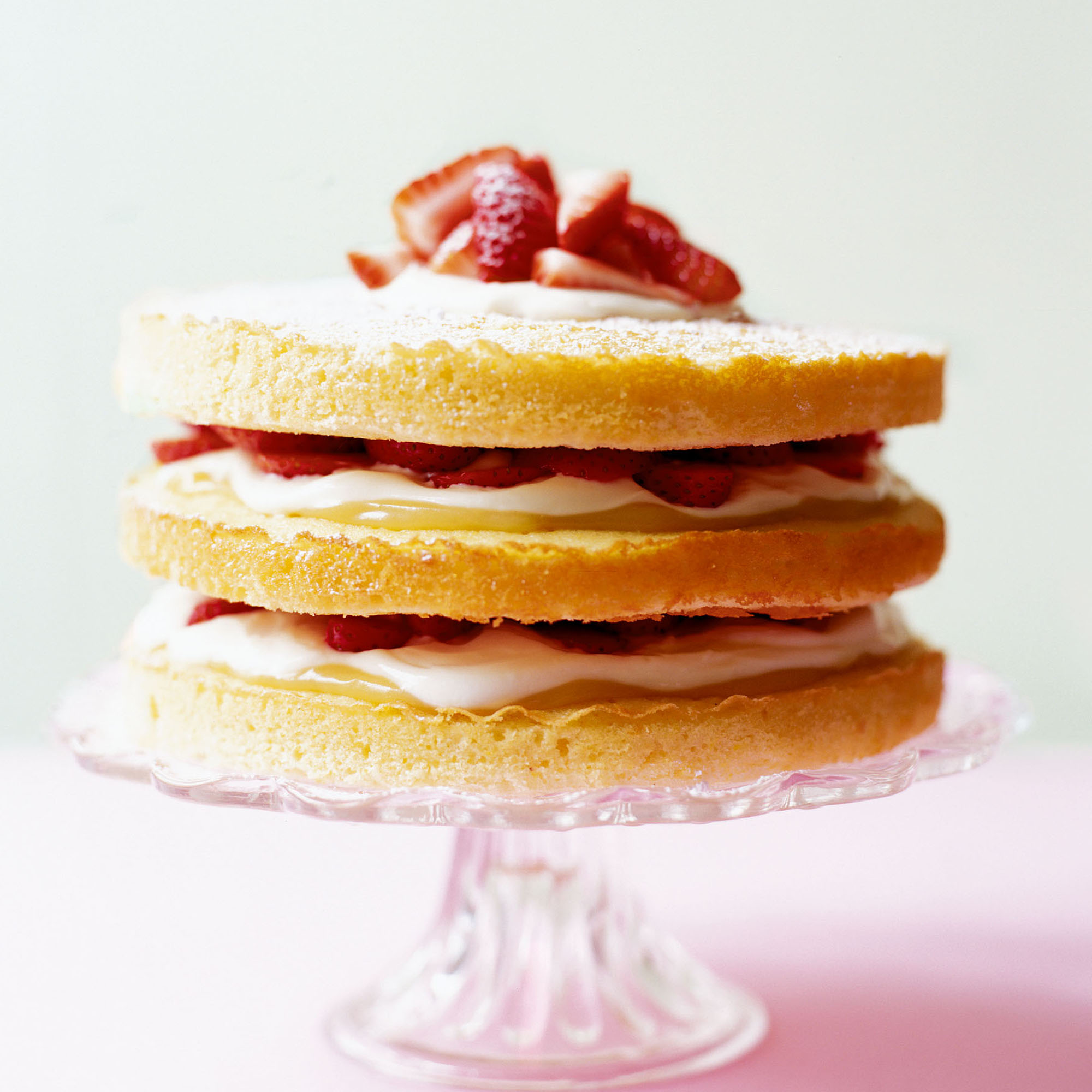 Strawberry and Lemon TripleLayer Cake