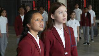 "Ilmaria Ebrahim (left) as Kima, and Sadie Munroe as Lil in the CBS All Access series ""Star Trek: Short Treks."""