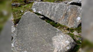 The Ten Commandments stones, seen here in Devon in the U.K.