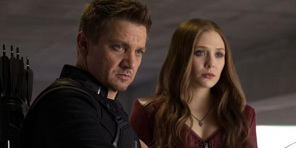 Jeremy Renner Elizabeth Olsen Marvel costumes