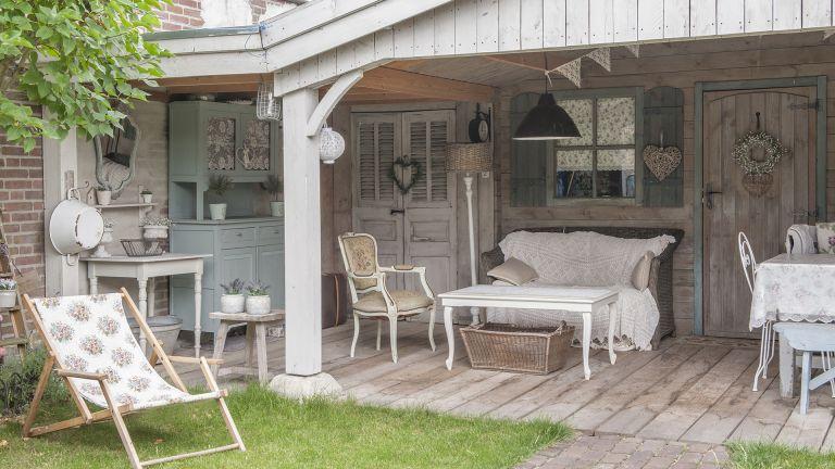 Dutch veranda garden room with vintage furniture