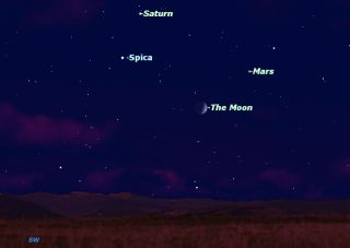 Sky Map of Quadruple Conjunction on July 25, 2012