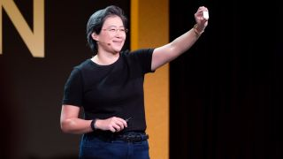 AMD CEO Lisa Su showing off the new Ryzen 7 processor