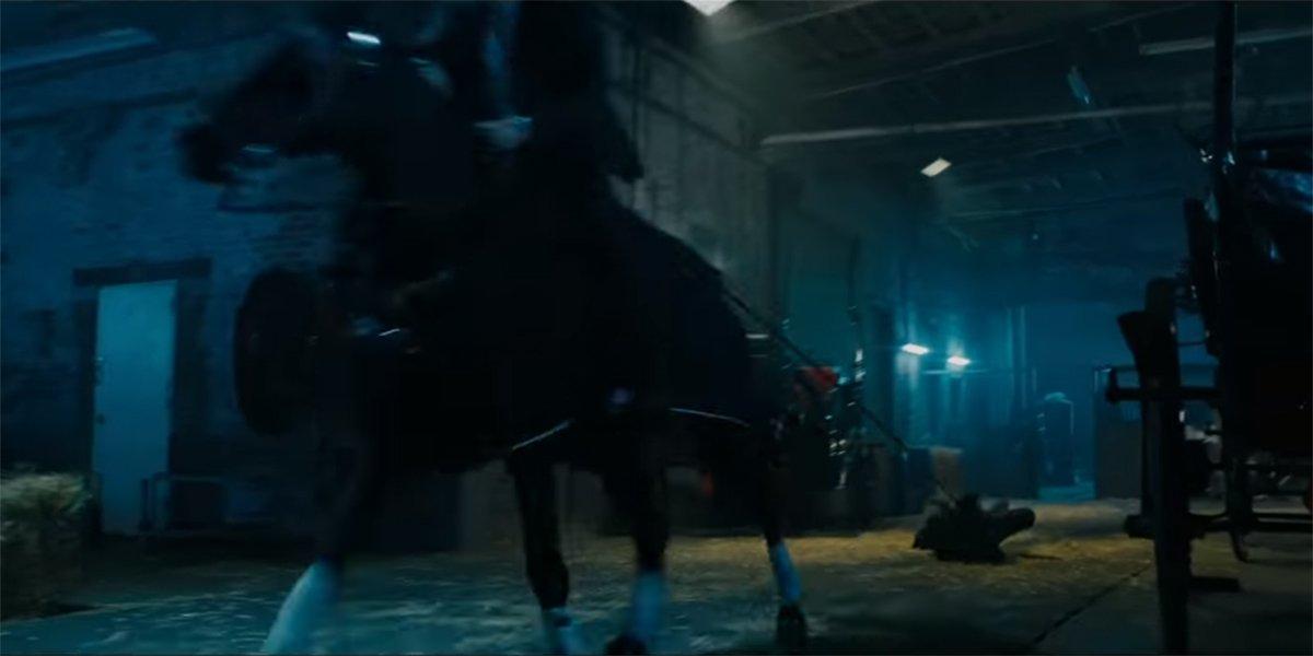 John Wick 3 horse drag