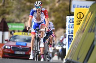 Groupama-FDJ's Thibaut Pinot rides to third place on the final stage of the 2020 Paris-Nice