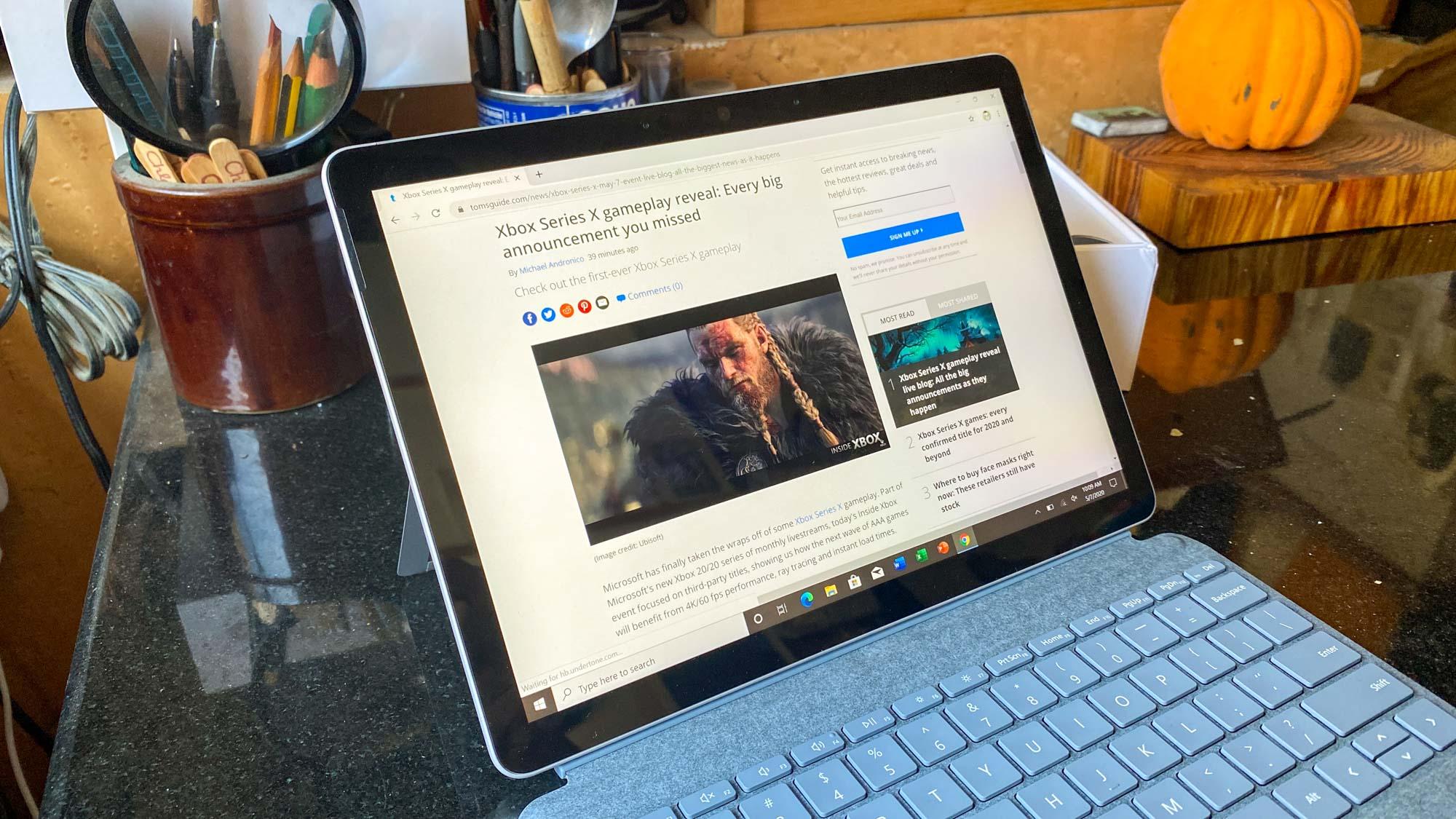 Revisión de Microsoft Surface Go 2 - biseles más pequeños