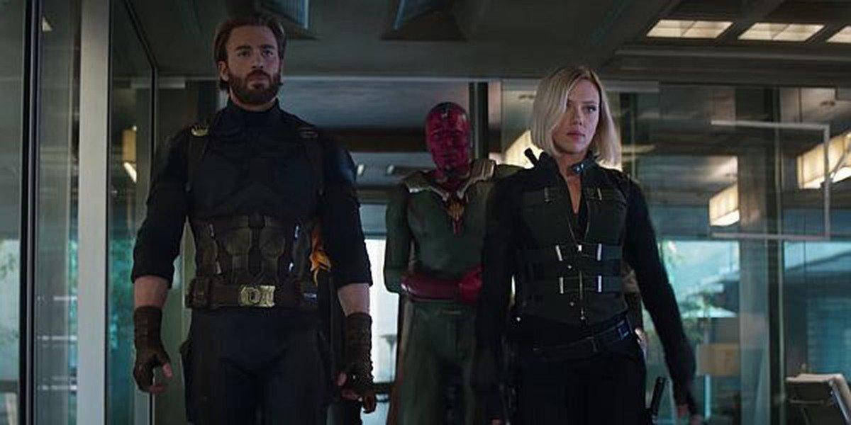 Natasha and Steve in Avengers: Infinity War.