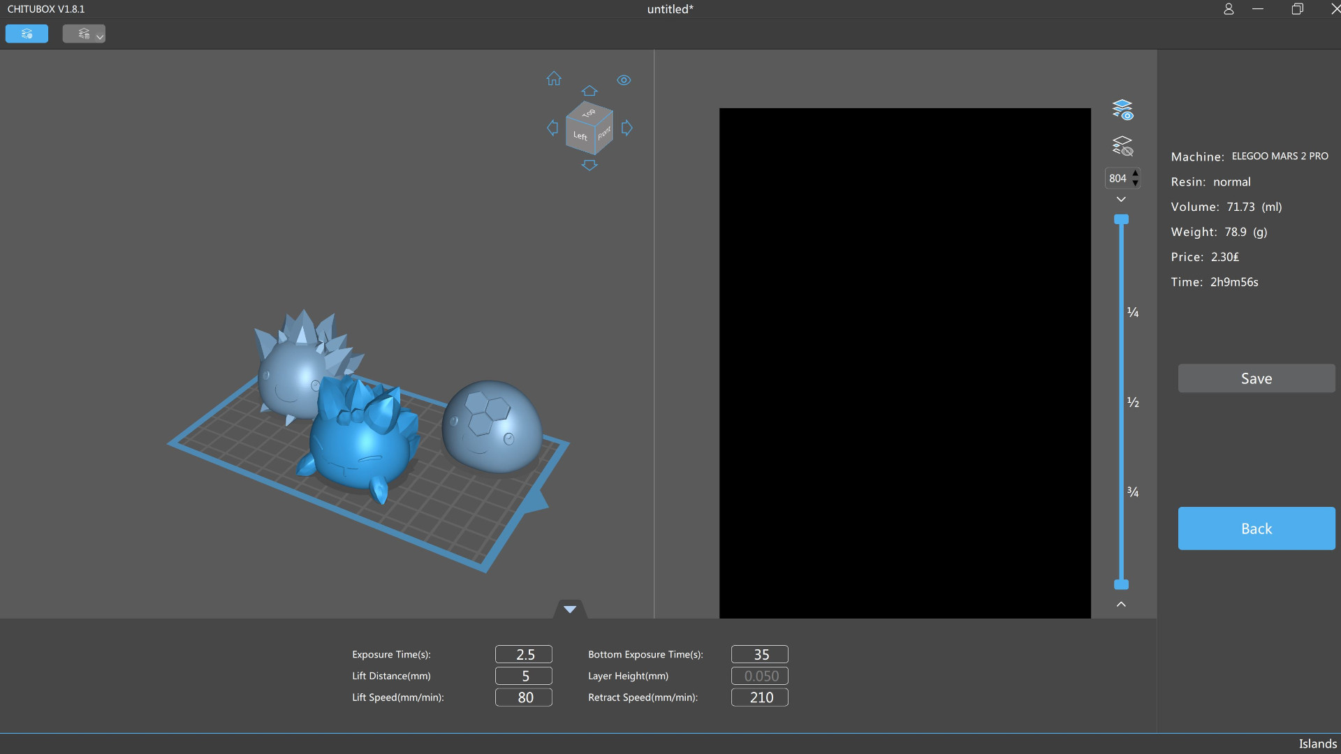 Slime Rancher figurines in the Chitu Box slicing software