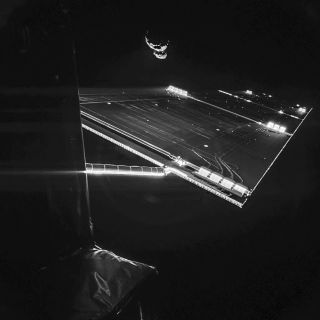 Rosetta Mission Self-Portrait at Comet