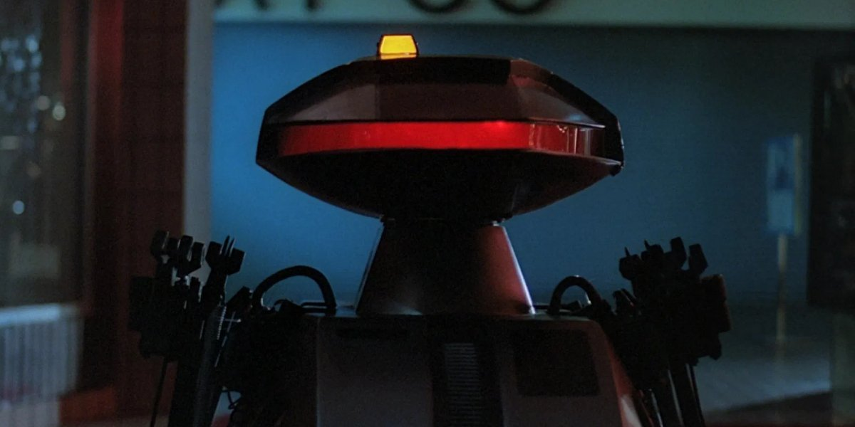 A Killbot from Chopping Mall