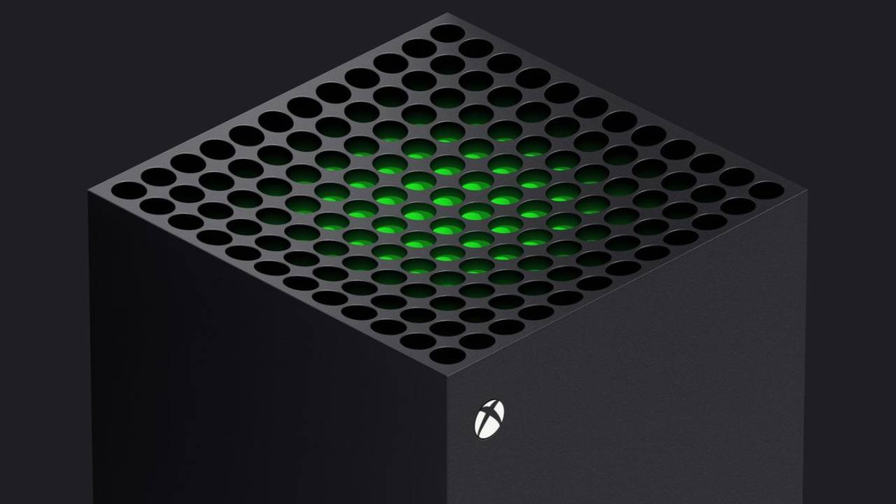 Xbox Series X top view of console