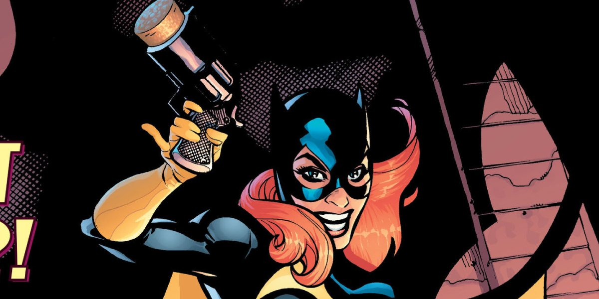 Cover art of a comic in which Harley Quinn becomes Batgirl