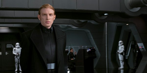Domhnall Gleeson's Armitage Hux in Star Wars: The Last Jedi