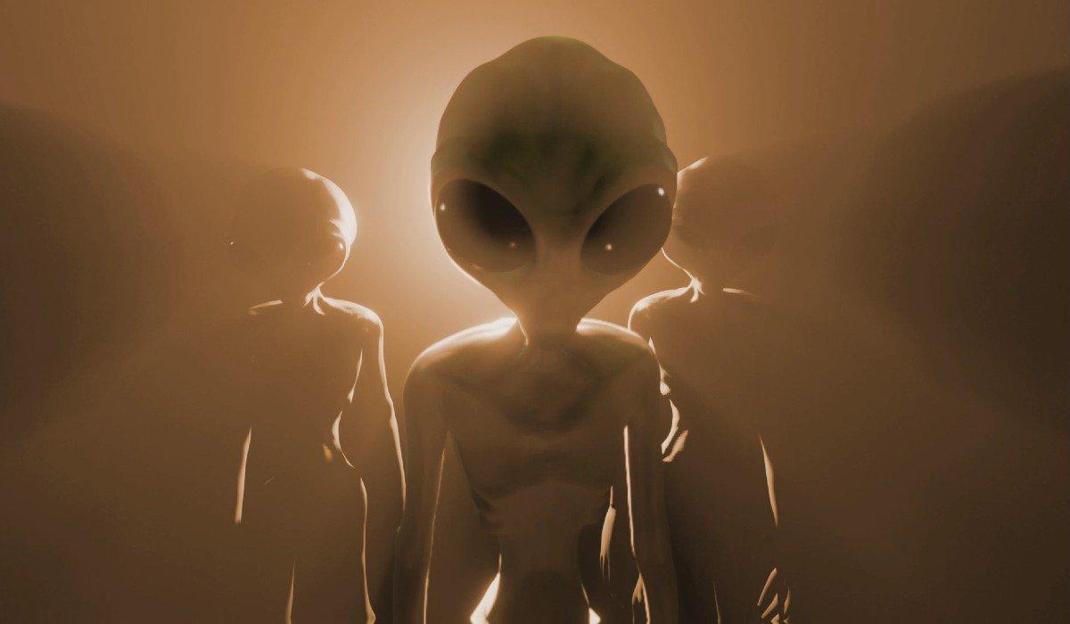 aliens looking at something
