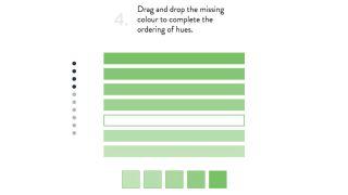 Colour quiz sample question
