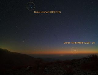 Comets Pan-STARRS and Lemmon from Las Campanas Observatory by Yuri Beletsky