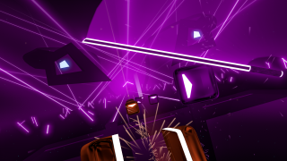 You can play different levels of difficulty with different music tracks and different colours.