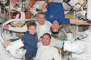 Shuttle Astronauts Take Time Off From Busy Flight