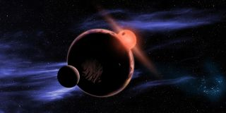 Artist's View of Alien Earth at Red Dwarf