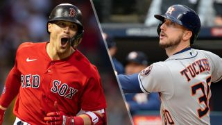 """Enrique """"Kiké"""" Hernandez and Kyle Tucker will look to score in the red sox vs astros live stream"""