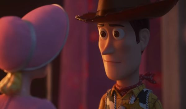 Woody and Bo Peep in Toy Story 4
