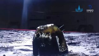 The Chang'e 5 return capsule at its landing site in Inner Mongolia, China, on Dec. 17, 2020.