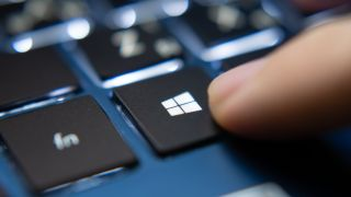 Windows 10 button on a keyboard