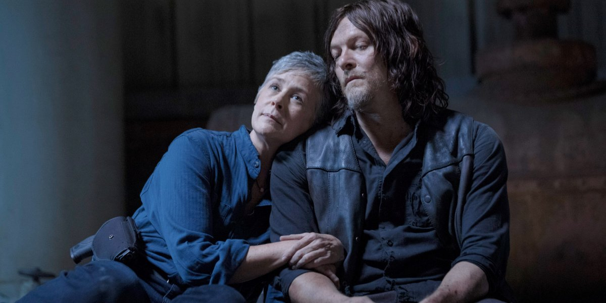 """Daryl giving Carol his """"blessing"""" in The Walking Dead."""