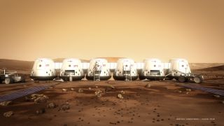 Astronauts and Mars One Colony