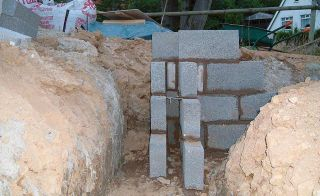 Trenchfill foundations for self build project