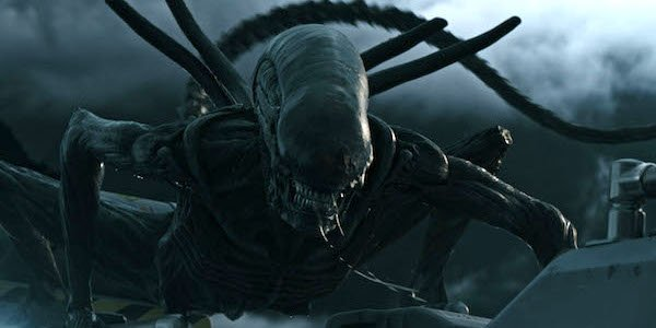 The Xenomorph attacking in Alien: Covenant
