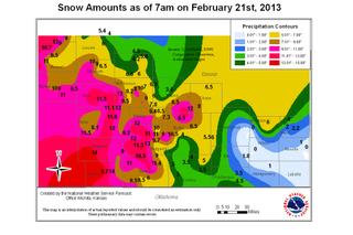 snow storm levels, Kansas