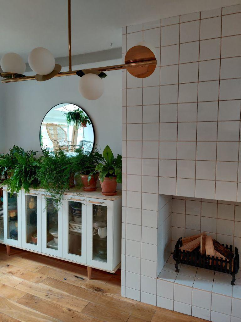 tiling a fireplace surround - Jo Lemos