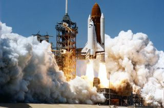Space Shuttle Challenger liftoff