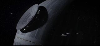 """The moon-size, weaponized space station, Death Star, is seen in """"Rogue One: A Star Wars Story."""""""