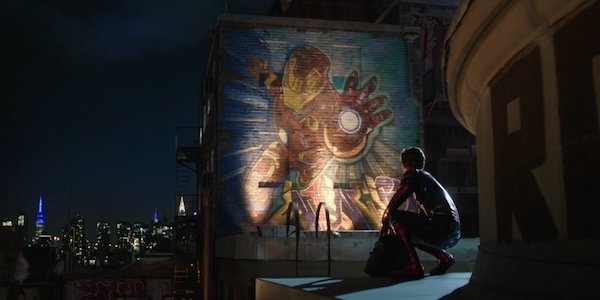 Iron Man mural in Spider-Man: Far From Home