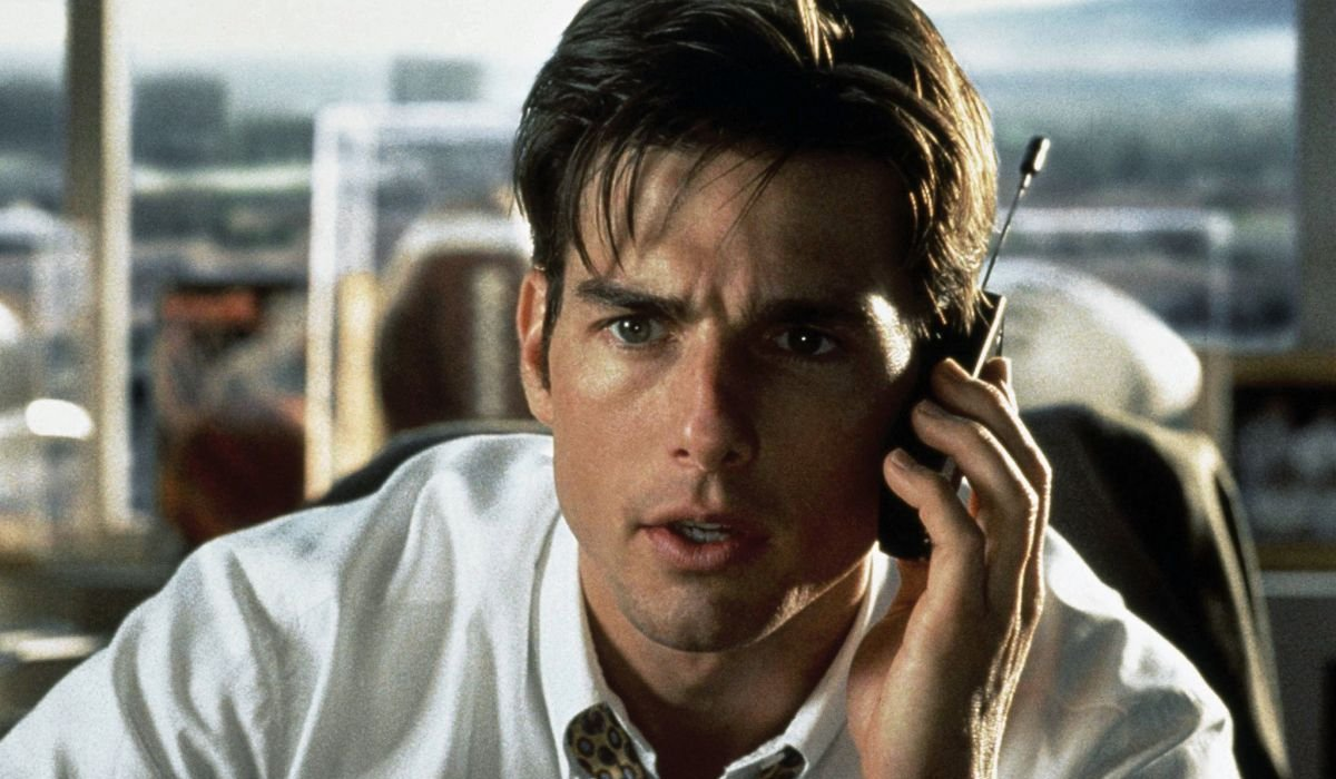 Jerry Maguire Tom Cruise has a particularly worrying cell phone conversation