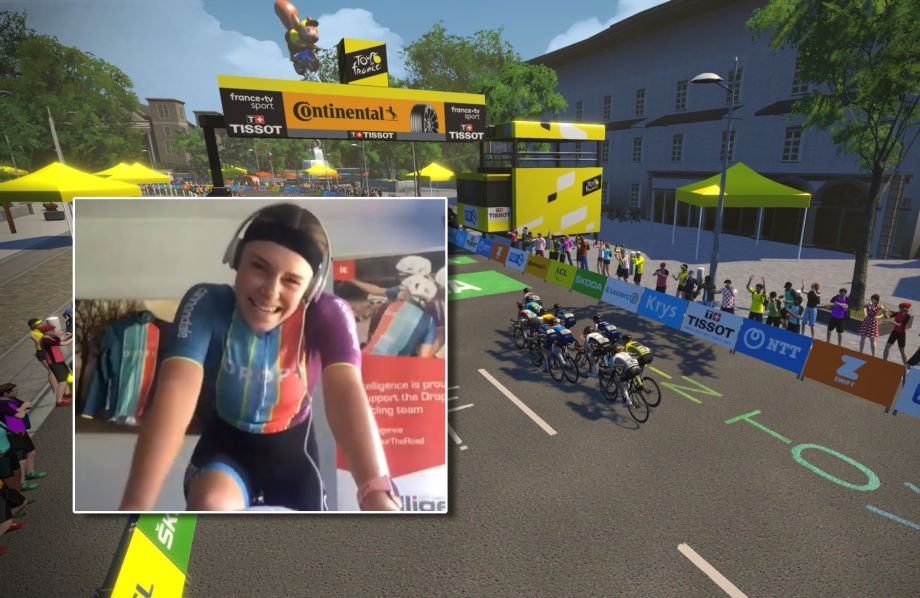 Brit April Tacey wins again on stage four of the women's virtual Tour de France