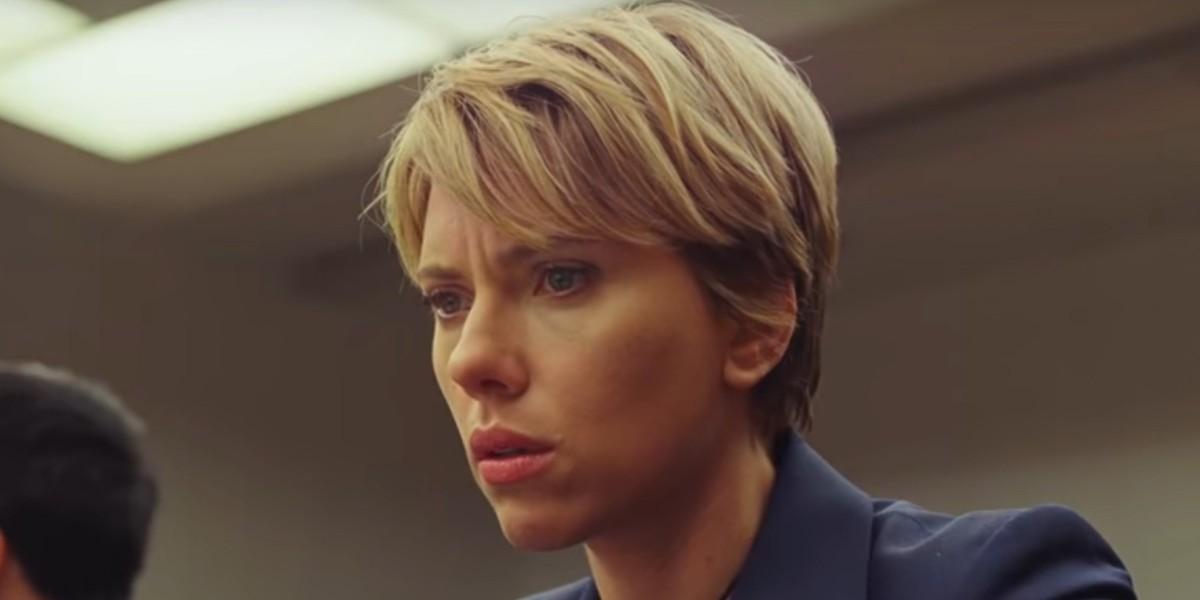 Nicole Barber (Scarlett Johansson) looks shocked in Marriage Story (2019)