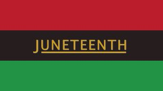 Red, black and green Juneteenth flag